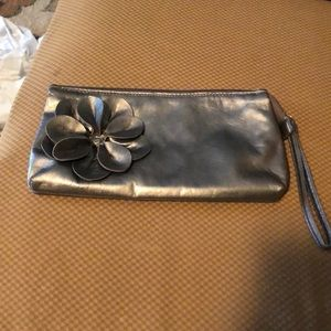 Sephora Wristlet In Pewter.  Clean inside and Out